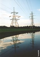 Pylons by the canal